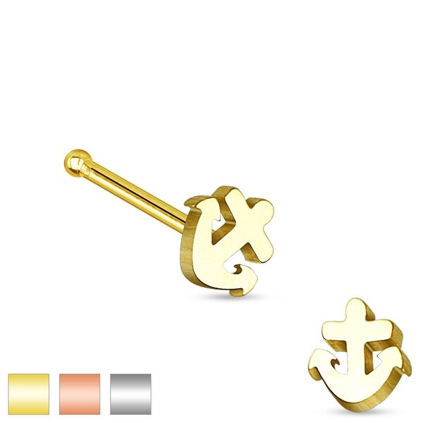 Anchor Top 316L Surgical Steel Nose Stud (Sold Individually)