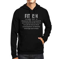 Fit-ish Unisex Black Pullover Hoodie Funny Fitness Gym Gift Ideas