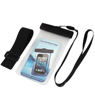 Unique Bargains Waterproof Bag Case Holder Pouch Clear for iPhone 5G w Neck Strap Armband
