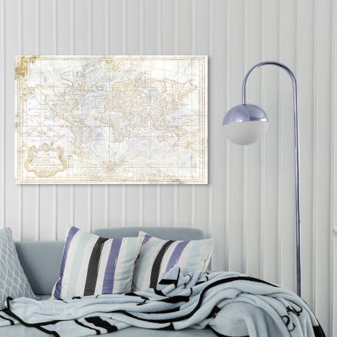 Oliver Gal 'World Map 1778 Diamond' Maps and Flags Wall Art Canvas Print World Maps - ,