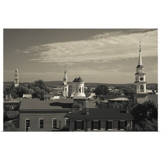 """""""High angle view of town churches, Frederick, Frederick County, Maryland"""" Poster Print"""