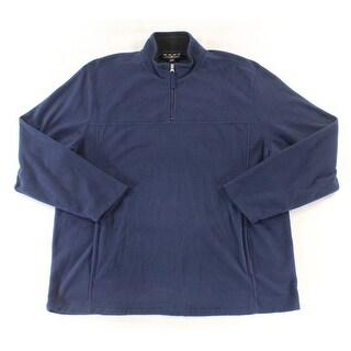 Club Room NEW Navy Blue Mens Size Medium M 1/2 Zip Mock-Neck Sweater