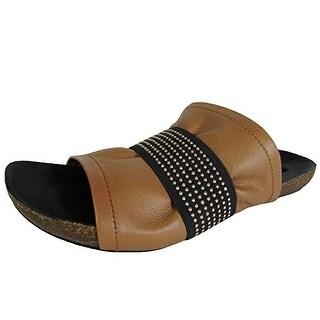 Steven by Steve Madden Womens Kayden Leather Slide Sandal Shoe