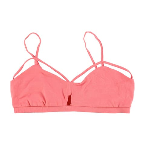 Ultra Flirt Womens Cutout Bralette, Pink, X-Large