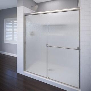 "Basco 3500-44SRN Classic 64-1/2"" High x 44"" Wide Bypass Framed Shower Door with"