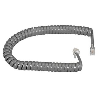 Black Box Network Services - Rj-22 Modular Coiled Handset Cord Dark Gray 12-Ft. 3.6-M