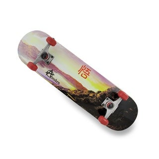 Canadian Maple Skateboard w/Lake Scene Graphics/Black Grip Tape Top - Multicolored