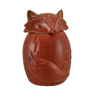 Orange Ceramic Fox Cookie / Treat Jar