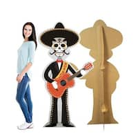 68 x 36 in. Day of The Dead Guitar Player Cardboard Standup