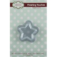 """Creative Expressions Small Star Treat Cups 6/Pkg-Clear 1.5"""" Diameter"""