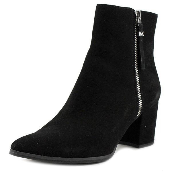 MICHAEL Michael Kors Womens Dawson Leather Pointed Toe Ankle Fashion Boots