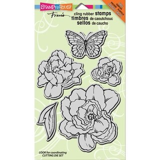 "Stampendous Cling Stamps 5""X7""-Lovely Garden"