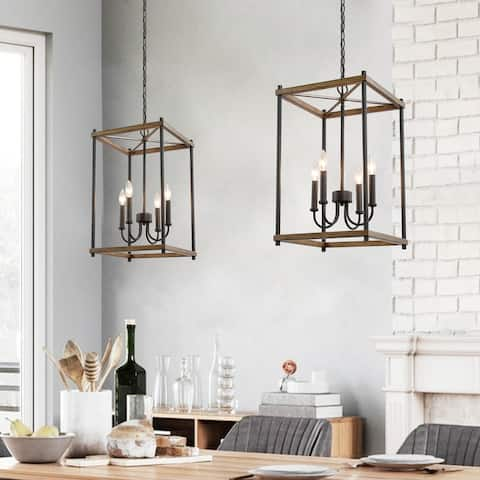 "Mid-century Transitional 4-light Kitchen Island Pendant Lights Chandeliers - W14""x H23.5"""