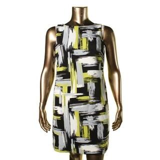 Jessica Howard Womens Shift Sleeveless Casual Dress