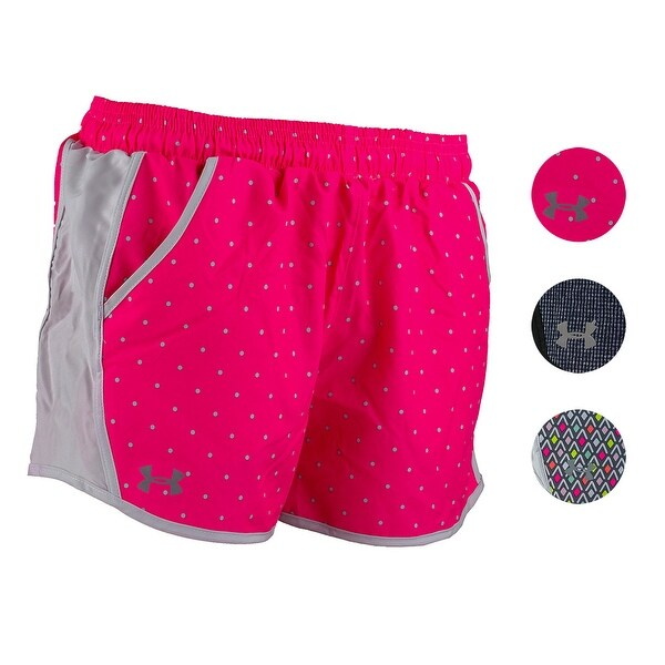 29812824a433a Shop Under Armour Women's UA Fly-By Printed Shorts - Free Shipping ...