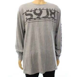 Sean John NEW Gray Heather Mens Size 2XL Long Sleeve S9J8 T-Shirt