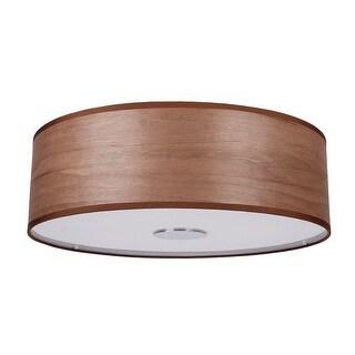 Modern 4-Light Wood Flush Mount Ceiling Light