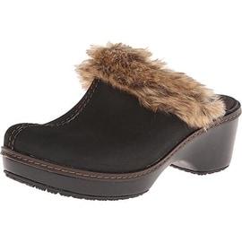 Crocs Womens Cobbler Fuzz Faux Fur Girls Clogs - 5