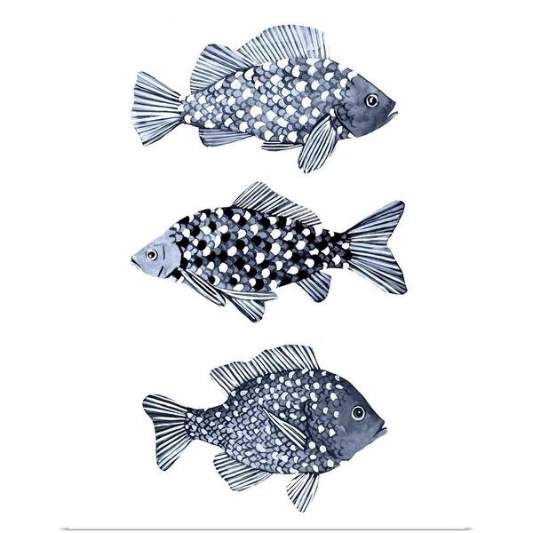 """Blue Fish I"" Poster Print"
