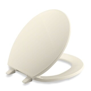 Kohler K-4775 Brevia Q2 Round Closed-Front Toilet Seat with Quick-Release and Quick-Attach Hinges