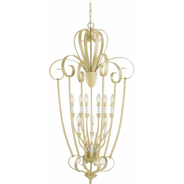Volume Lighting V3342 Florentia 12-Light 3 Tier Chandelier - golden coral