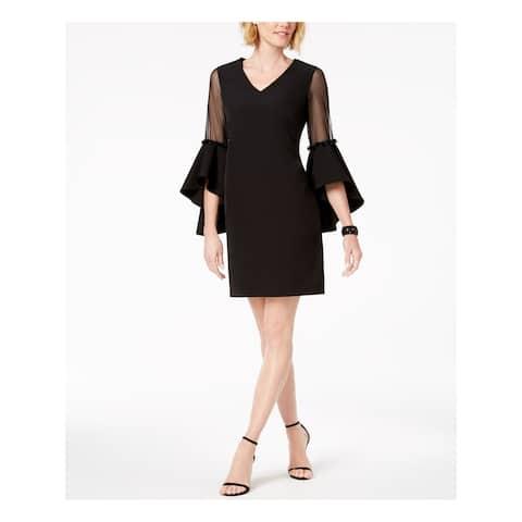 MSK Black Bell Sleeve Above The Knee Dress Size 6
