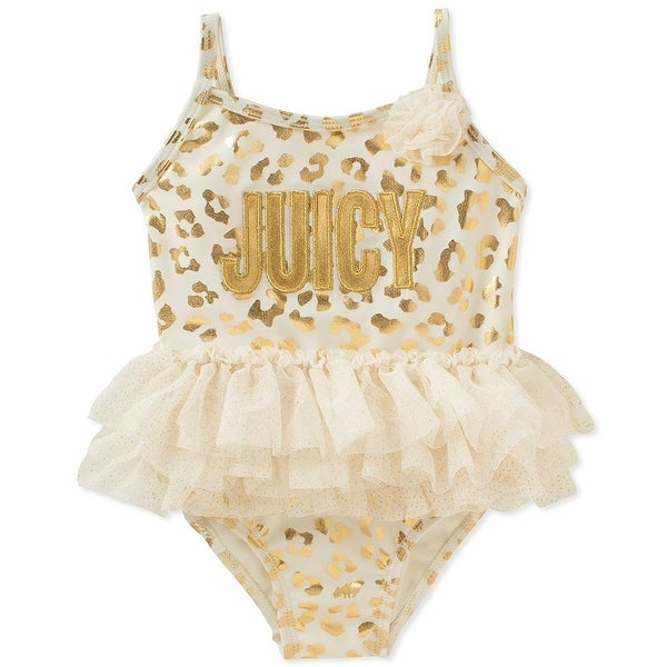 5ca675e63 Shop Juicy Couture Girls 12-24 Months Foil Tutu Swimsuit - GOLD - 18 months  - Free Shipping On Orders Over $45 - Overstock - 26267825