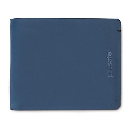 Pacsafe RFIDsafe TEC Bifold - Navy RFID Blocking Slim Wallet w/ 13 Card Slots