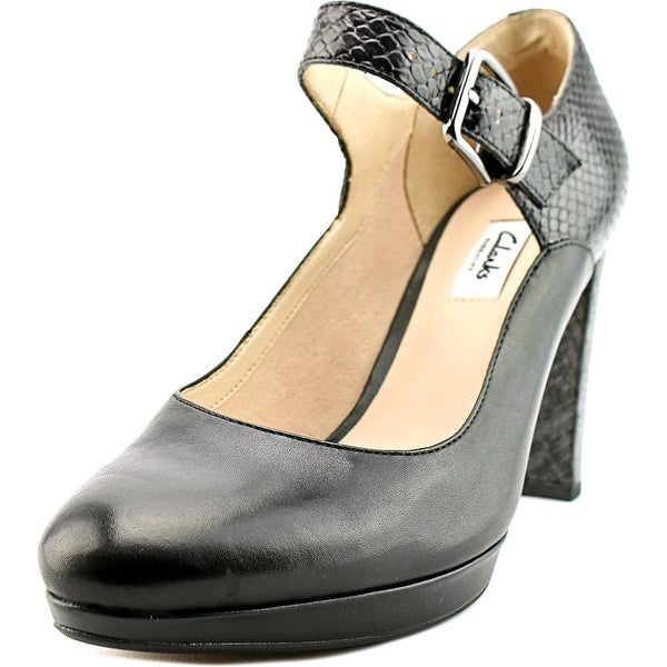 Clarks Narrative Kendra Gaby Women Round Toe Leather Black Mary Janes