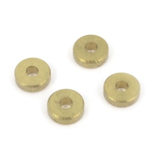 Unique Bargains Replacement Gold Tone Metal RC 4WD Model Washer Spacer 2mmx6mmx2mm 4Pcs