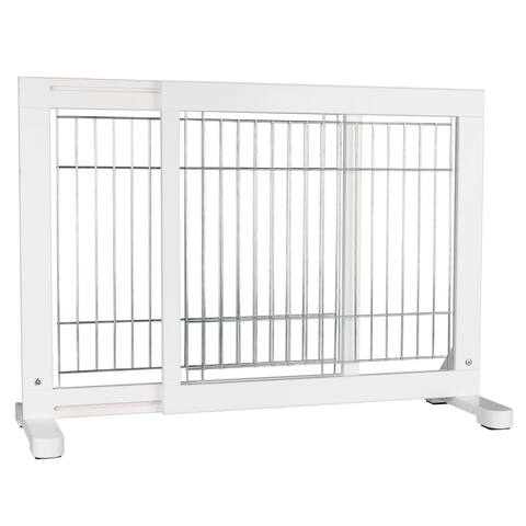 """TRIXIE Wooden Freestanding Pet Gate 24 in Height White - 1.5"""" x 42.5"""" x 24"""""""