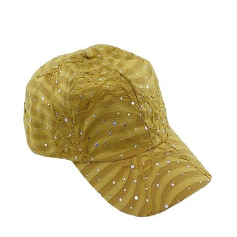 Glitzy Game Sequin Trim Baseball Cap