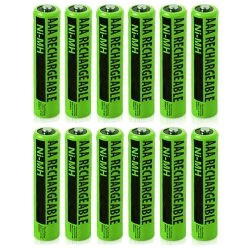 New Replacement Battery For Panasonic NiMH AAA Cordless Phones 12 Pack