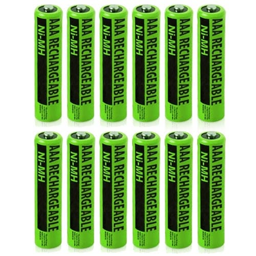 Replacement Panasonic KX-TGA402 NiMH Cordless Phone Battery - 630mAh / 1.2v (12 Pack)