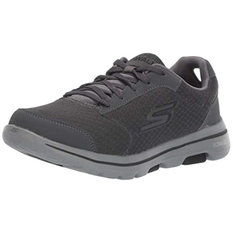 Skechers Men's GO Walk 5 Qualify Shoe, CharcoalBlack, 8 M US