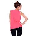 Simply Ravishing Women's Sheer Low V Neck Sleeveless Layered Chiffon Blouse Tank Top - Thumbnail 8