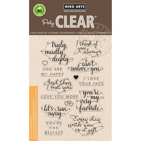 """Hero Arts Clear Stamps 4""""X6""""-You Are My Happy"""