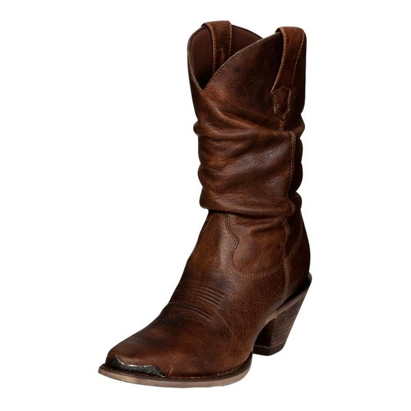 """Durango Western Boots Womens 10"""" Crush Sultry Slouch Sunset"""