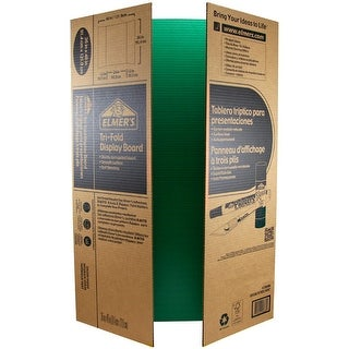 "Elmer's Tri-Board Self-Standing Project Display Board 36""X48-Green Box=25, Srp $5.99Ea"