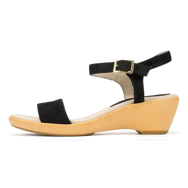 White Mountain Womens W24808 Leather Open Toe Casual Platform Sandals - 5
