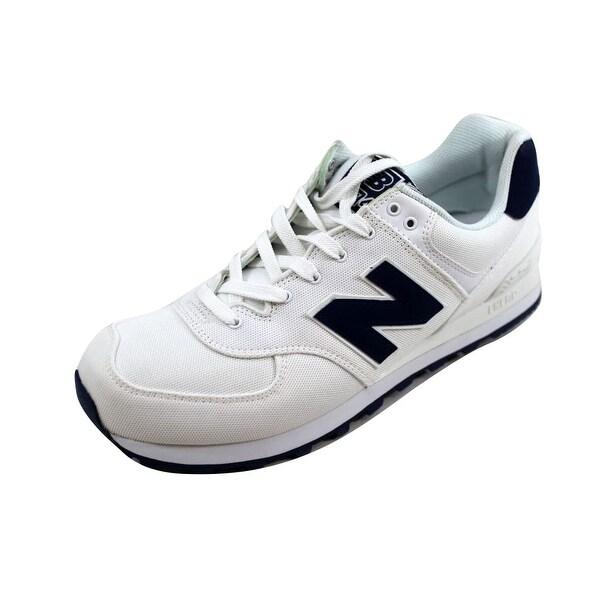 Shop New Balance Men's ML574HRW 574 Pique Polo White/Blue ML574HRW Men's Size 12 - - 22919416 adee40