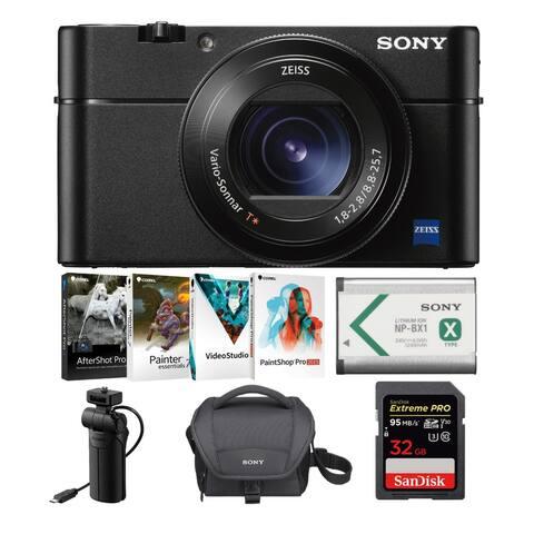 Sony RX100 V Cyber-shot Digital Camera with Soft Case and 32GB SD Card Bundle