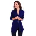 Simply Ravishing Women's Basic 3/4 Sleeve Open Cardigan (Size: Small-5X) - Thumbnail 12