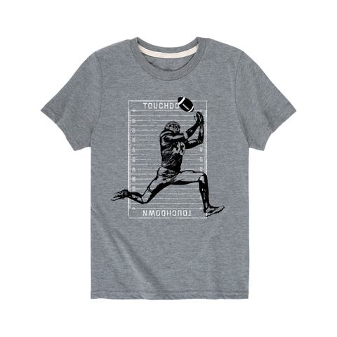 Player Catching Football - Youth Short Sleeve Tee
