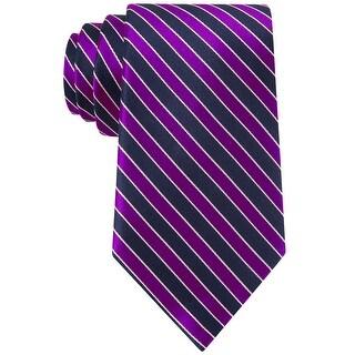 Nautica Schooning Stripe Classic Silk Tie Necktie Purple and Navy Blue