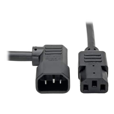 Tripp Lite P005-006-14RA Tripp Lite Heavy-Duty Power Extension Cord - 15A, 14AWG (Right Angle IEC-320-C14 to IEC-320-C13) 6-ft.