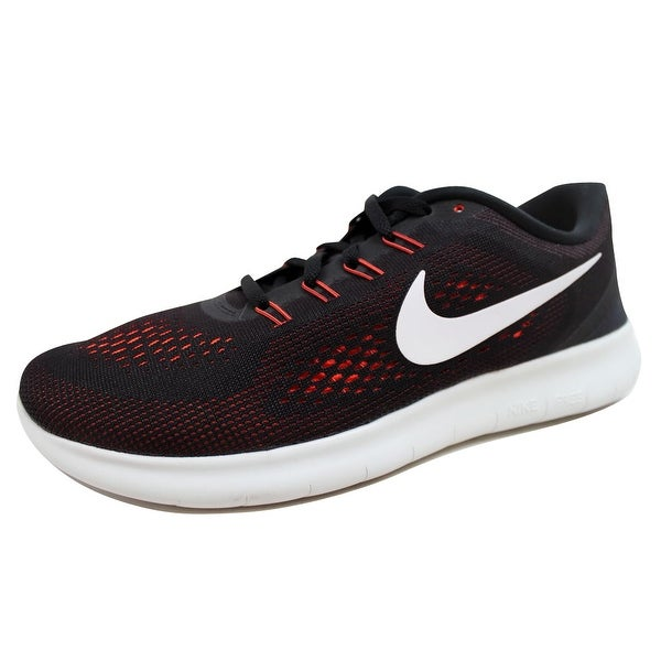 quality design a9c36 0a157 Nike Menx27s Free Run BlackOff White-Total Crimson-