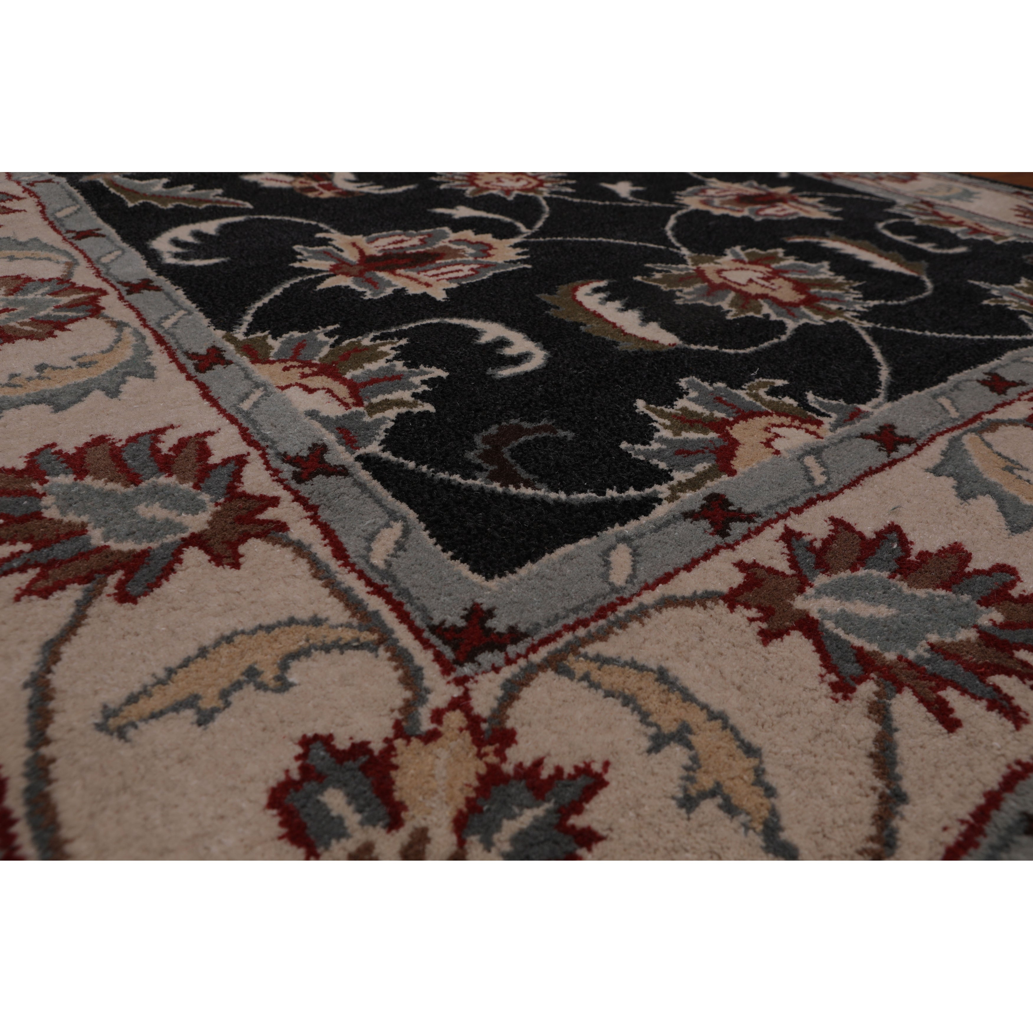 5 X8 Hand Tufted Wool Oriental Area Rug Charcoal Beige Color 5 X 8 On Sale Overstock 31310673