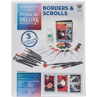 Donna Dewberry Deluxe Paint Set-Borders & Scrolls In Prima Flow
