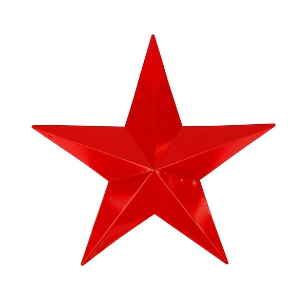 """24"""" Scarlet Red Country Rustic Star Indoor/Outdoor Wall Decoration"""